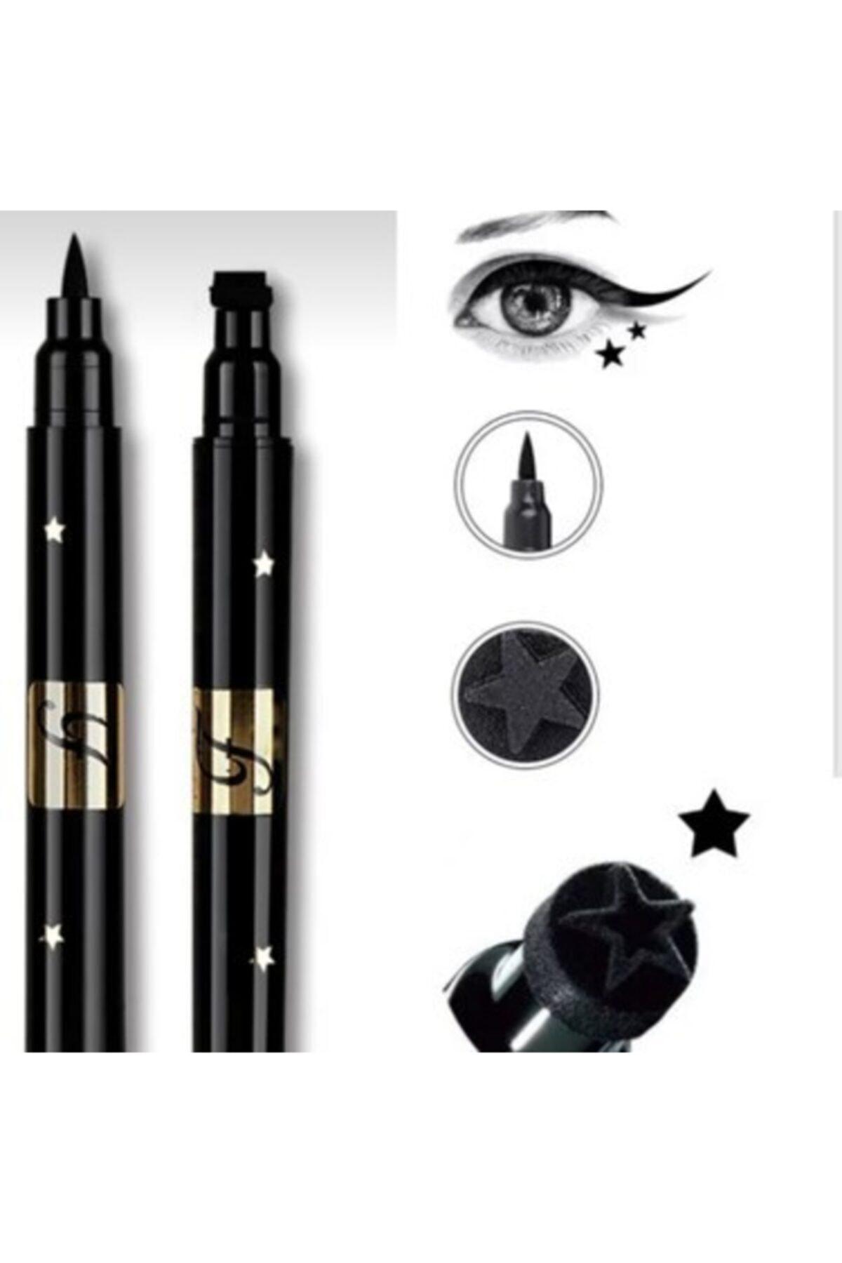 Çift Uçlu Yıldız Eyeliner Desenli