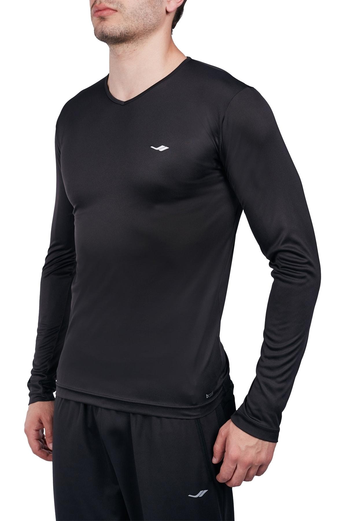 Siyah Erkek Uzun Kol T-shirt 20s-1223