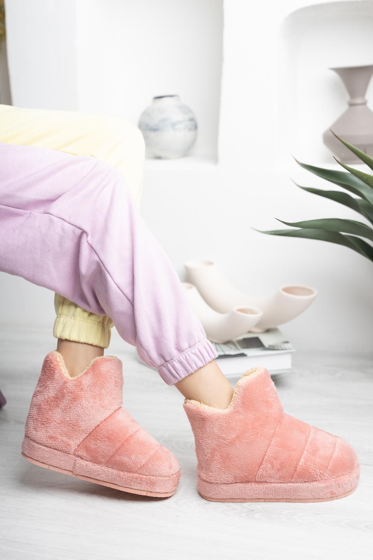 Kadın Panduf Ev Botu Ev Ayakkabısı Kalın Hafif Taban