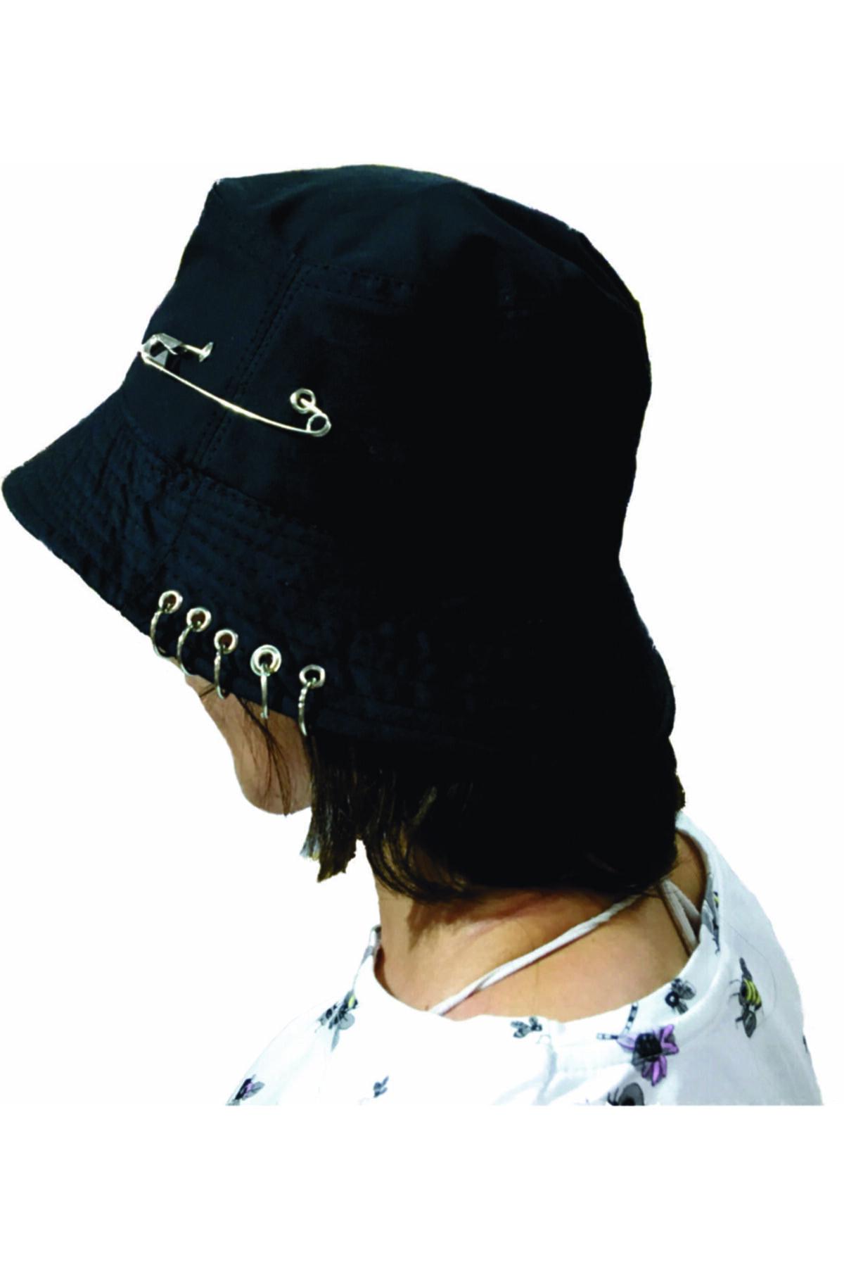 Kpop Piercingli Iğneli Balıkçı Şapka