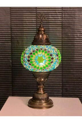 Mozaik Lamba Masa Lambası 0002-Yeşil-Masa Lambası