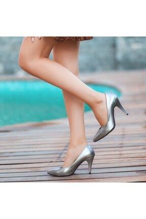 Topuklu Ayakkabı Gri TYC00234888116