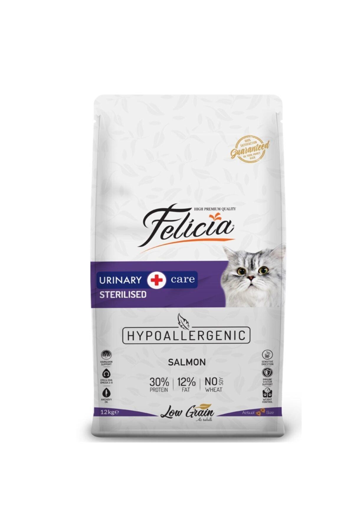 Düşük Tahıllı Hipoalerjenik Somonlu Kısırlaştırılmış Kedi Maması 12 kg