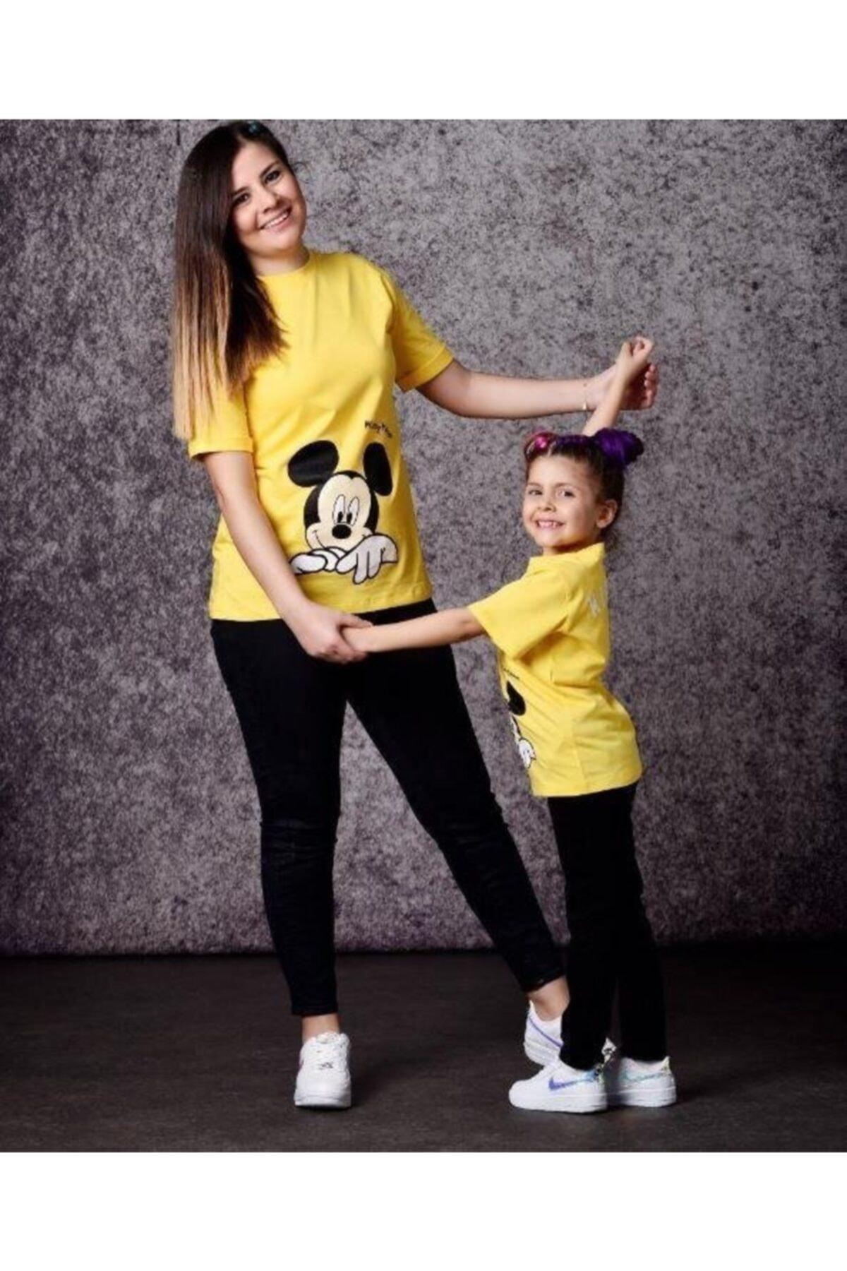 Mickey Mouse Anne Çocuk Kombini - Anne Çocuk Tişört Kombini