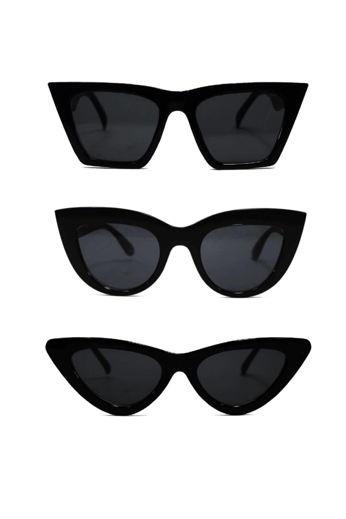 Güneş Gözlüğü Unisex 3lü Set