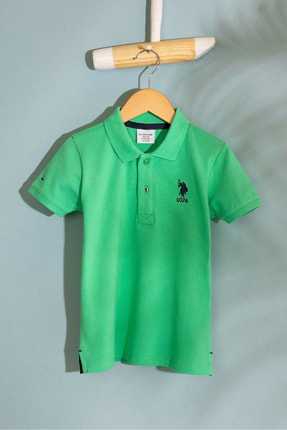 US Polo Assn Yesıl Erkek Cocuk T-Shirt 0
