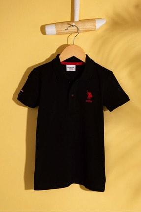 US Polo Assn Sıyah Erkek Cocuk T-Shirt 0