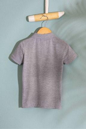 US Polo Assn Grı Erkek Cocuk T-Shirt 1