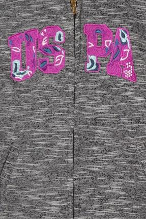 US Polo Assn Grı Kız Çocuk Sweatshirt 2