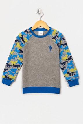 US Polo Assn Grı Melanj Erkek Cocuk Sweatshirt 0
