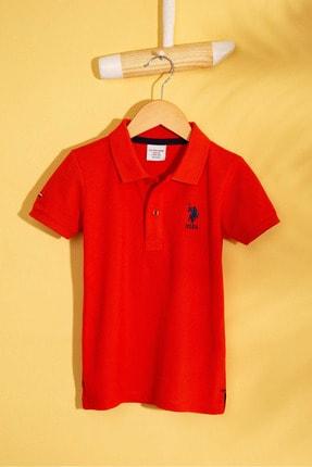 US Polo Assn Turuncu Erkek Cocuk T-Shirt 0
