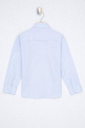 US Polo Assn Mavi Erkek Çocuk Dokuma Gömlek 1