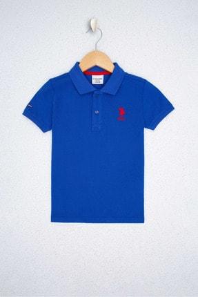 US Polo Assn Mavı Erkek Çocuk T-Shirt 0