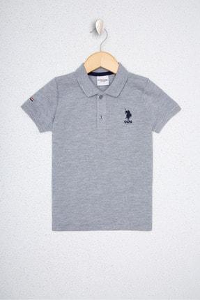 US Polo Assn Gri Erkek Çocuk T-Shirt 0