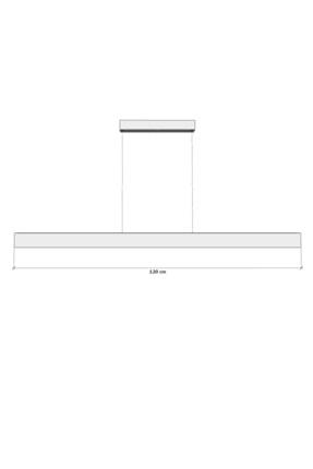 Hegza Lighting Lineer-120 (siyah Kasa-gün Işığı) Ledli Avize 4