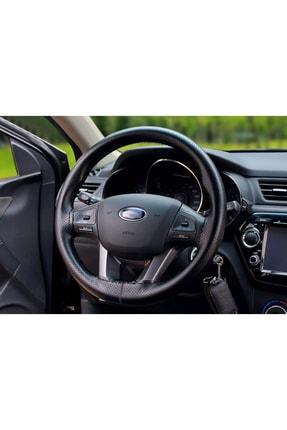 GARDENAUTO Opel Antara Deri Direksiyon Kılıfı Dikmeli Noktalı Siyah Dikişli 0