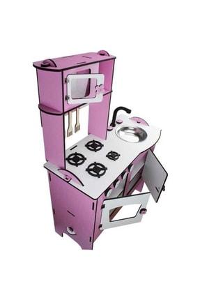 WoodyLife Ahşap Oyuncak Mutfak Seti Eğitici Montessori Oyuncak Mutfak Seti 3