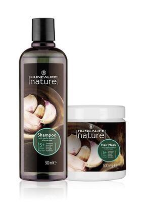 Hunca Nature Sarımsaklı Şampuan 500 Ml + Nature Sarımsaklı Maske 0