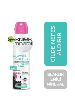 Garnier Mineral Lekesiz Koruma Ferah Koku Sprey Deodorant 150 Ml 0