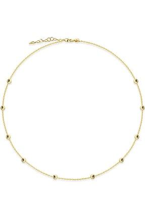 Huarz Gümüş Kadın 925 Ayar Gold Toplu Gümüş Zincir 40cm 0