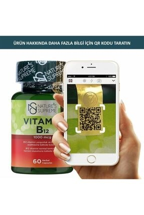 Natures Supreme Vitamin B12 1000 Mcg 60 Kapsül 3