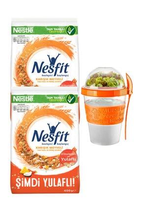 Nestle Karışık Meyveli Kahvaltılık Gevrek 800 Gr. + ( Take And Go Müsli Kabı 600 Ml Hediyedir) 0