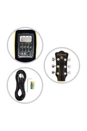 Extreme Gitar Akustik Solak Sahne Gitarı (xaclh45eq4bk) 3
