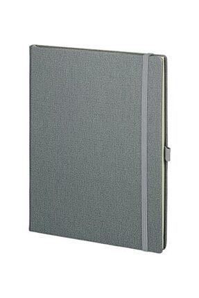 Pulko Promosyon Klasik 192 Sayfa, 19 X 25 Cm, Termo Deri Kapak, Düz, Not Defteri, Gri 0
