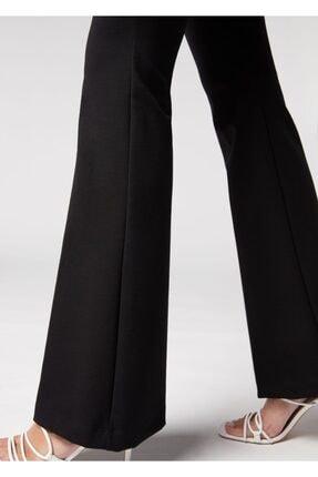 lovebox Kadın Esnek Dalgıç Kumaş Bir Beden Inceltici Görünüm Sağlayan Ispanyol Paça Pantolon 2