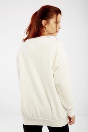 citycenterfashion Kadın Ekru Harvard Sweatshirt Cty-abr-7299 4