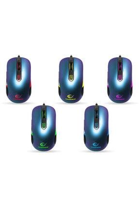Rampage Smx-r10 Orıon X Metalik Mavi 4000 Dpi Makrolu Oyuncu Mouse Gaming Mouse 4