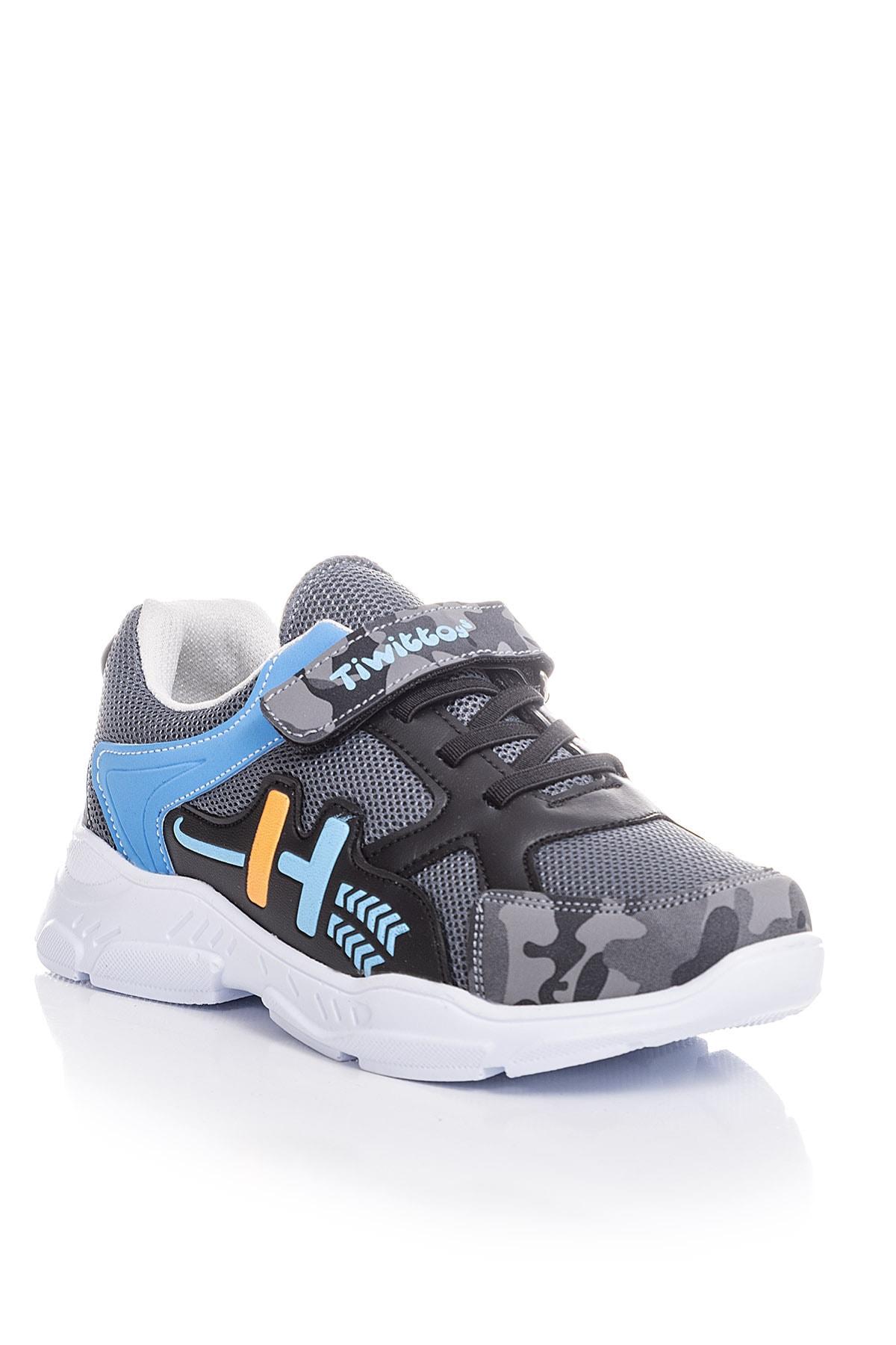Tonny Black Füme Turkuaz Unisex Çocuk Sneaker TBZ13-3 1