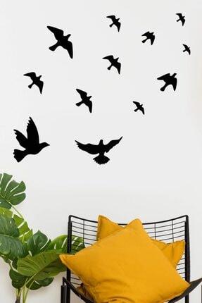 MSticker Uçan Kuşlar Dekoratif Duvar Sticker Kuş Sürüsü (58x61cm) 2