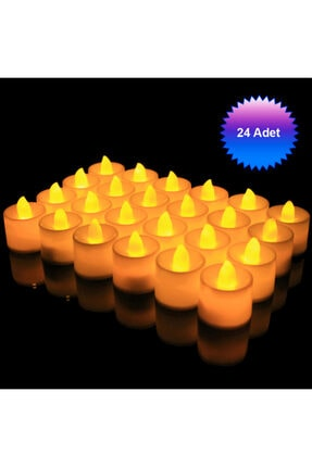 Berk Işıklı Dumansız Led Pilli Mum 24 Adet Pil Dahil 2