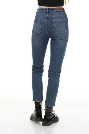 Modanizm Kadın  Mavi Kot Pantolon 3