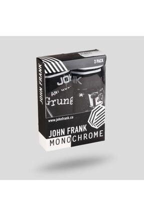 John Frank Erkek Siyah İkili Monochrome Boxer - JF2BMC05-L 0