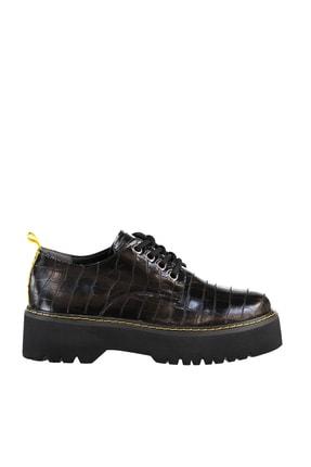 Soho Exclusive Siyah Kroko Kadın Casual Ayakkabı 15609 2