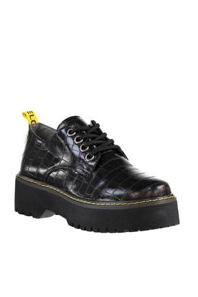 Soho Exclusive Siyah Kroko Kadın Casual Ayakkabı 15609 4