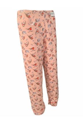 Koza Kadın Pembe Pamuklu Pijama Takımı 2