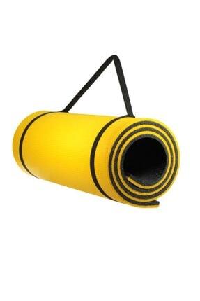 Walke 16 Mm Pilates Kamp Matı Sarı Siyah Taşıma Askılı 1