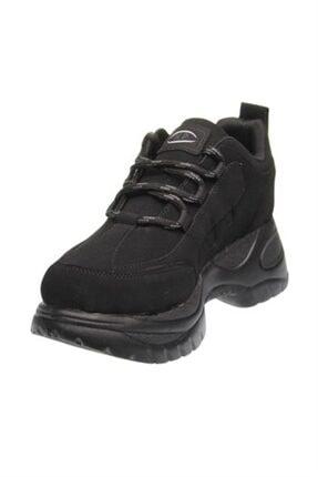 Kadın Siyah Dolgu Topuk Spor Ayakkabı konay72120