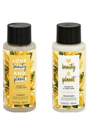 Love Beauty and Planet Hindistan Cevizi Yağı Ve Ylang Ylang Özlü Şampuan + Saç Kremi Seti 0