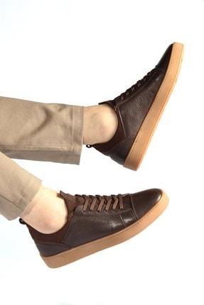 Alba Kahve Crep Hakiki Deri Erkek Ayakkabı 1
