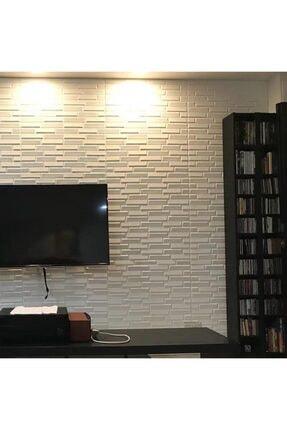 Renkli Duvarlar Nw55 Beyaz Opak Arkası Yapışkanlı Esnek Silinebilir Duvar Paneli 1
