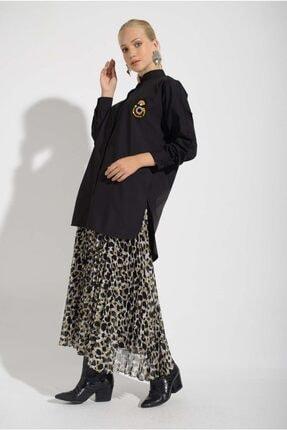 Missemramis Kadın Yanları Yırtmaçlı ve Broşlu Gömlek 202834 1