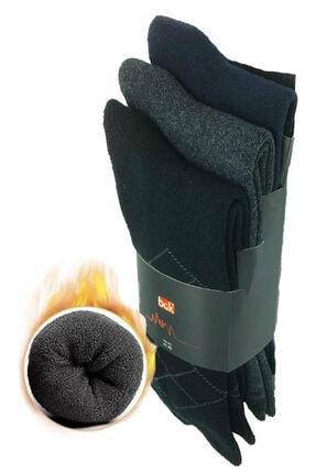 Zirve Erkek 3'lü Kışlık  Yıkamalı Pamuklu Termal Çorap 1
