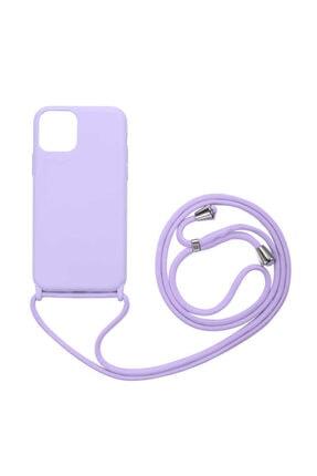 Fibaks Apple Iphone 11 Kılıf Ipli Boyun Askılı Içi Kadife Lansman Yumuşak Silikon 0