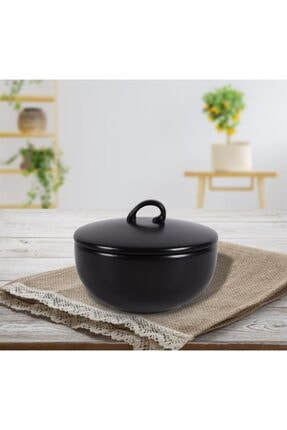 Keramika Vista 12 Cm Mat Siyah Şekerlik 0