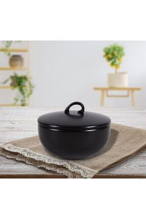 Keramika Vista 12 Cm Mat Siyah Şekerlik 1