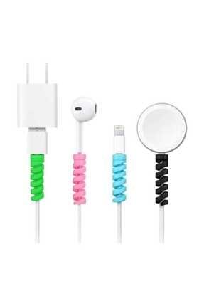 Simex Iphone 5 5s 6 6s 7 8 Plus X Xr Xs Max Kablo Koruyucu - Şarj Aleti Kulaklık Için 1